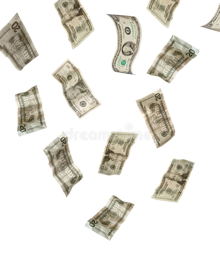 pieniądze ponad spada fotografia stock