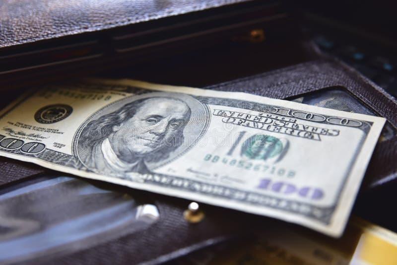 Pieniądze portfla dolar obrazy stock