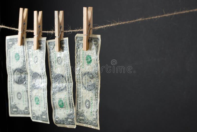 Pieniądze pralni pojęcie obraz stock