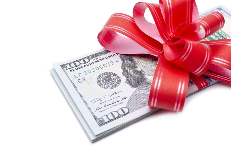 Pieniądze prezent zdjęcie royalty free