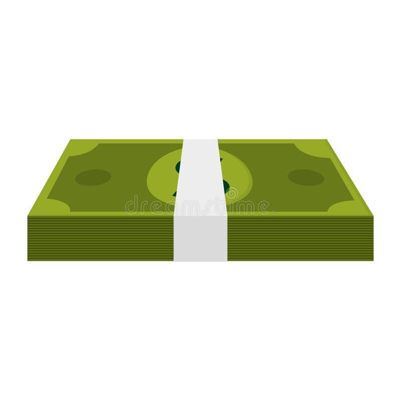 pieniądze rachunku bogaty zwitek gotówka royalty ilustracja
