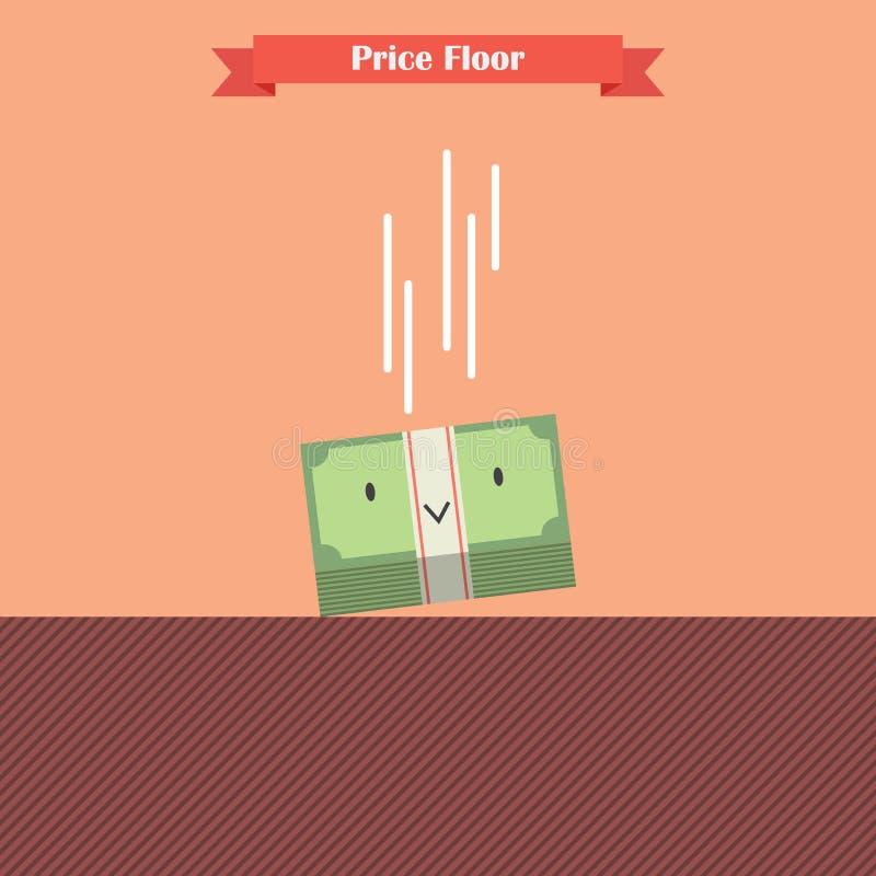 Pieniądze rachunku spada ograniczenie ceny podłoga ilustracja wektor