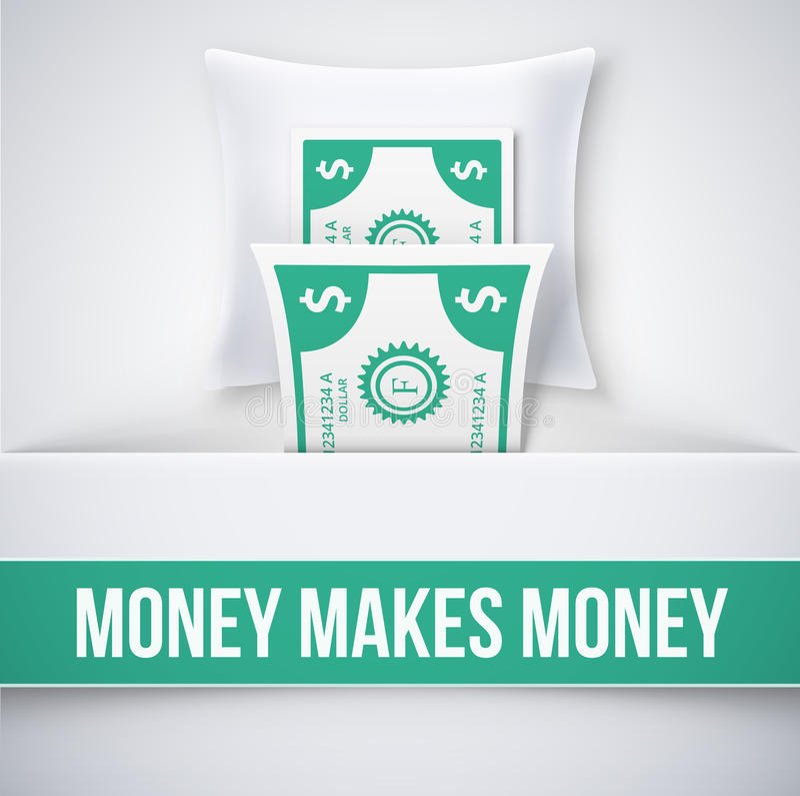 Pieniądze robi pieniądze royalty ilustracja