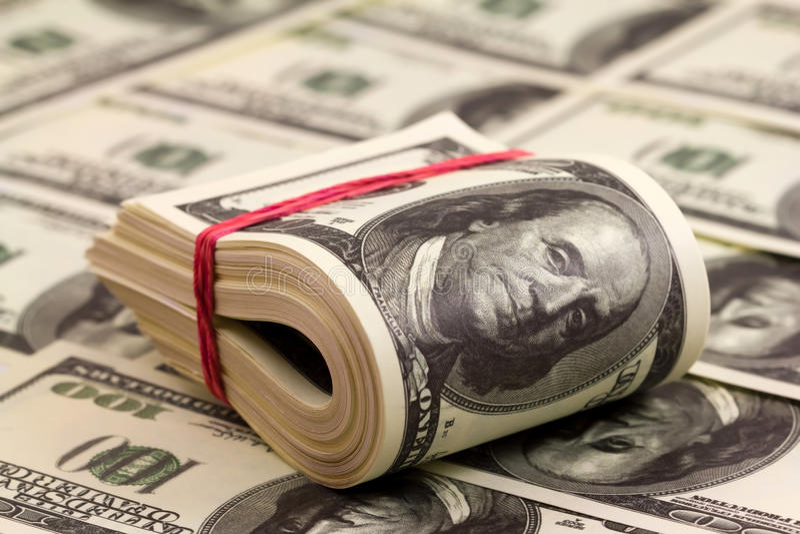 pieniądze rool obraz stock