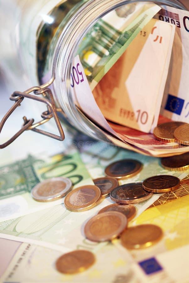 Pieniądze słój. obraz stock