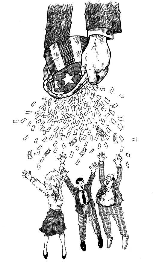 pieniądze Sam wuj ilustracji