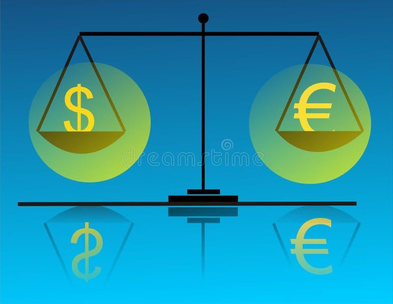 pieniądze skali ilustracji