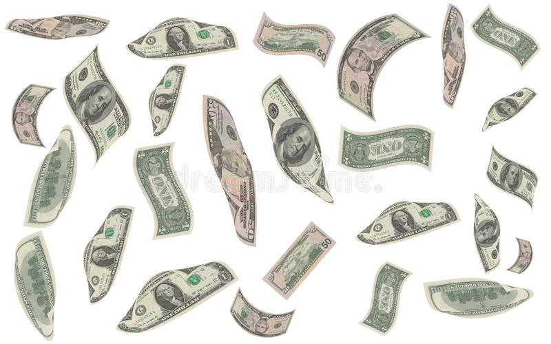 Pieniądze spadek ilustracji