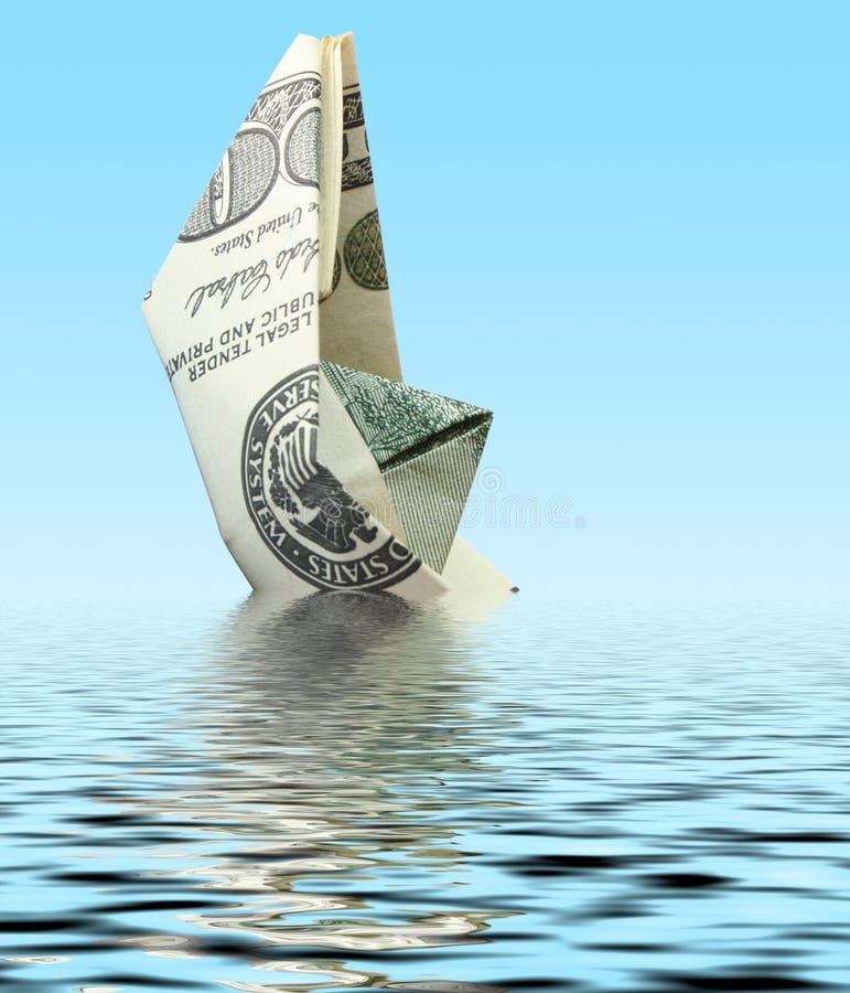 pieniądze statku woda zdjęcie stock