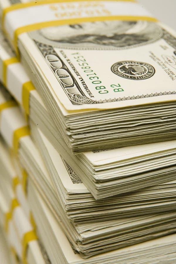 Pieniądze sterty zdjęcia royalty free