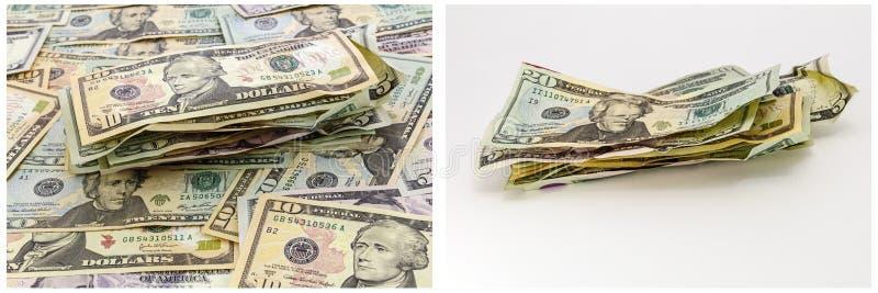 Pieniądze stos miąca gotówkowa tapeta zdjęcia stock