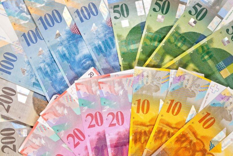 pieniądze szwajcar zdjęcia stock