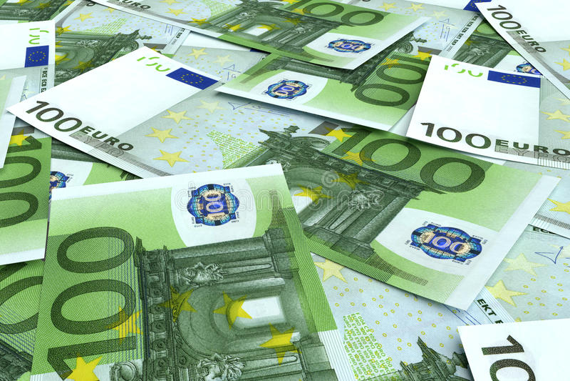 Pieniądze tło od wiele euro obraz stock