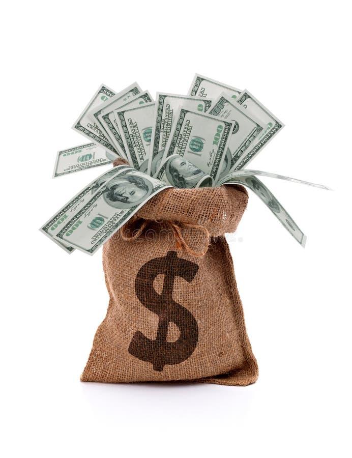 Pieniądze torba fotografia royalty free