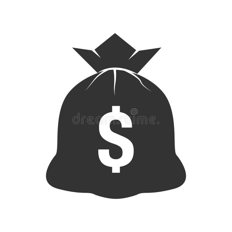 Pieniądze torby ikona ilustracji
