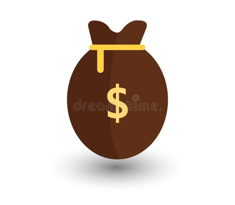 Pieniądze torby ikona ilustrująca royalty ilustracja