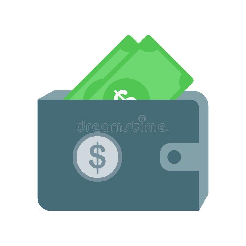 Pieniądze torby ikony wektoru znak i symbol odizolowywający na białym backgrou ilustracji