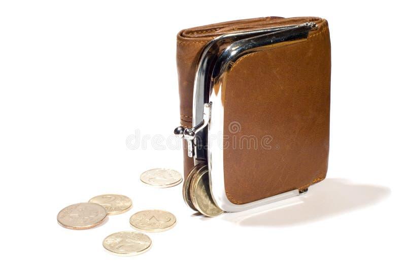 pieniądze, torebkę zdjęcia royalty free
