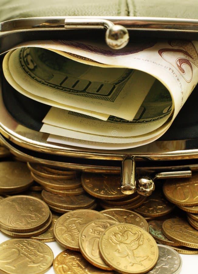 pieniądze, torebkę obrazy royalty free