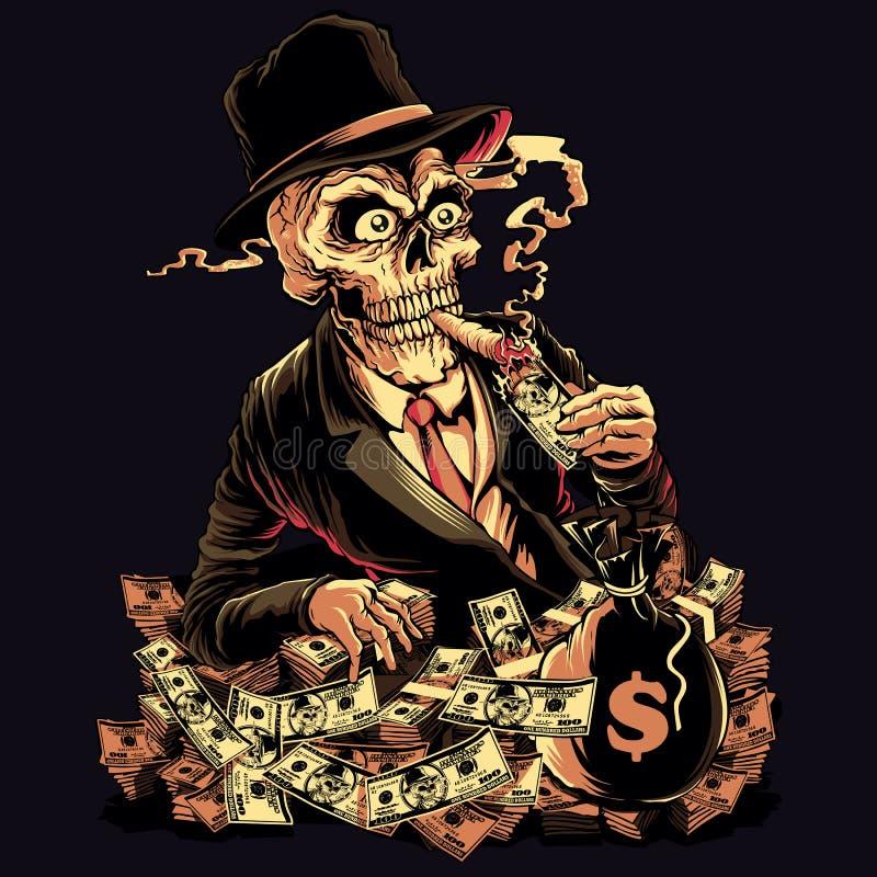 Pieniądze władza ilustracji