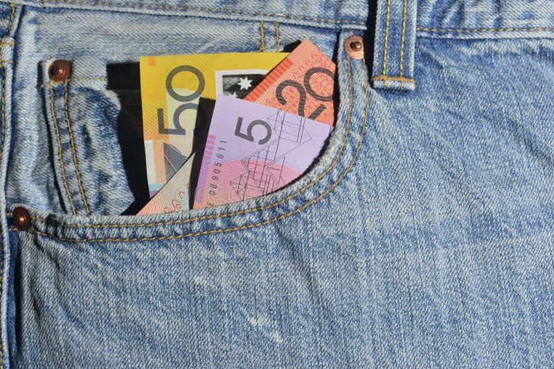 Pieniądze w kieszeni obraz royalty free