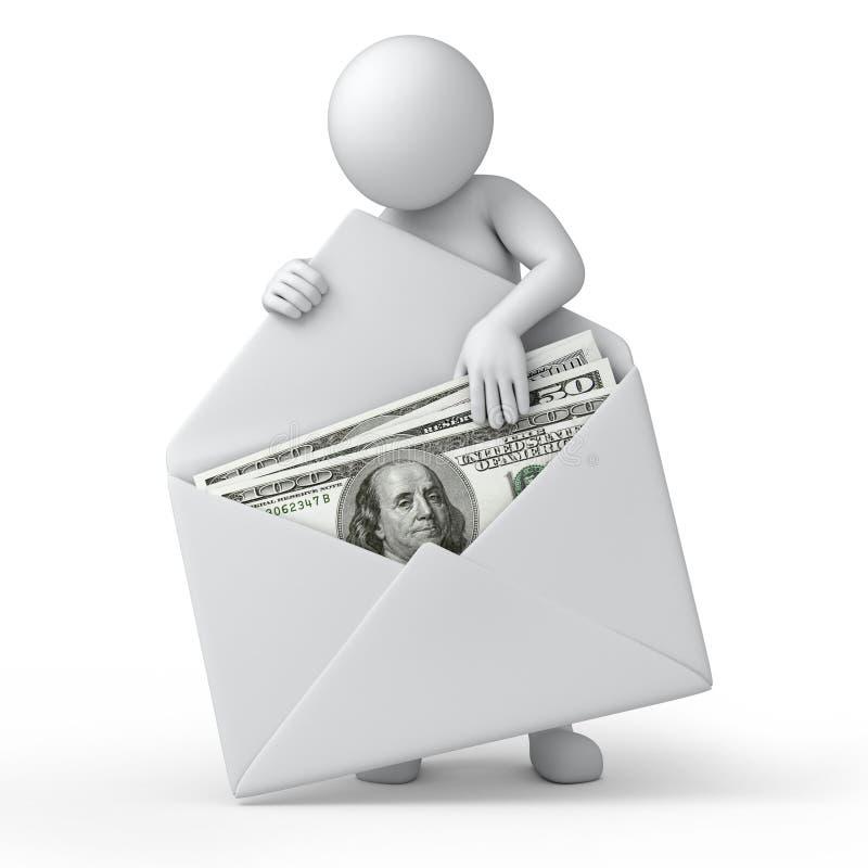 Pieniądze w kopercie royalty ilustracja