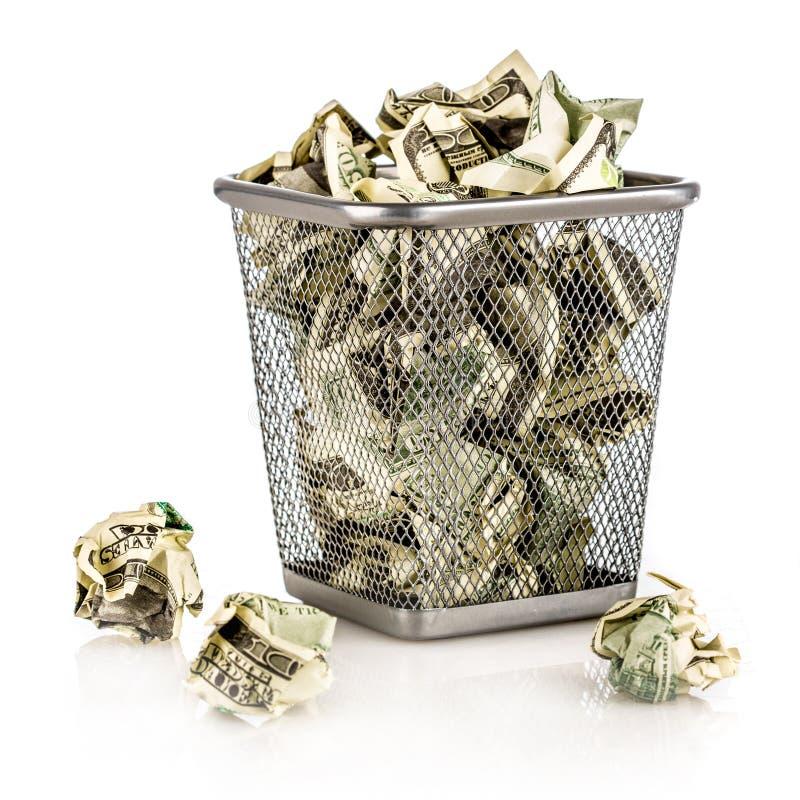 Pieniądze w koszu zdjęcia royalty free
