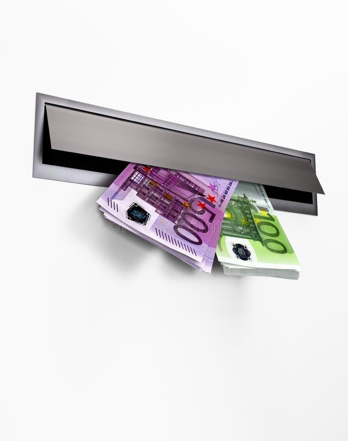 Pieniądze w Letterbox royalty ilustracja