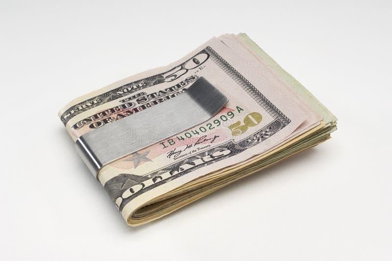 Pieniądze W pieniądze klamerce obraz stock