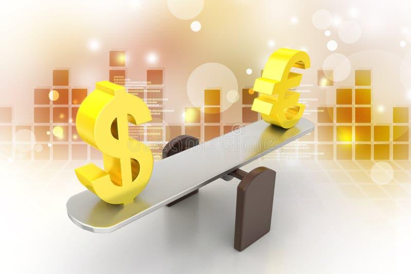 Pieniądze wekslowy tempo ilustracja wektor