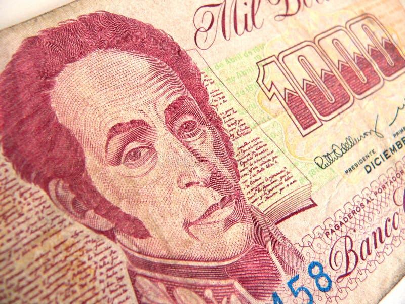 pieniądze wenezuelczyk fotografia royalty free