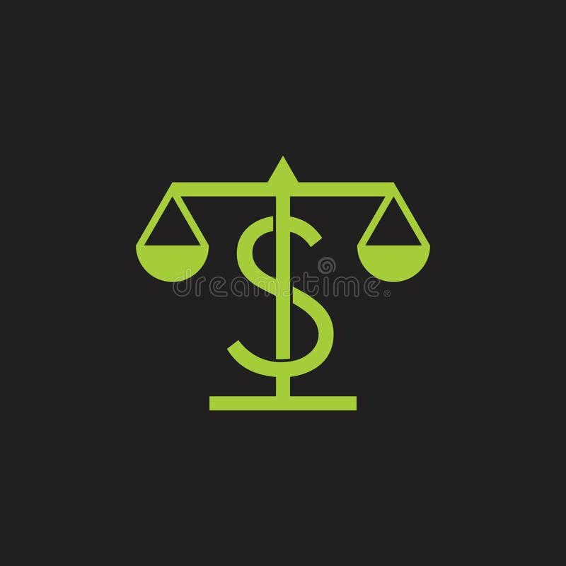 Pieniądze wzrosta skali projekta symbolu balansowy wektor ilustracja wektor