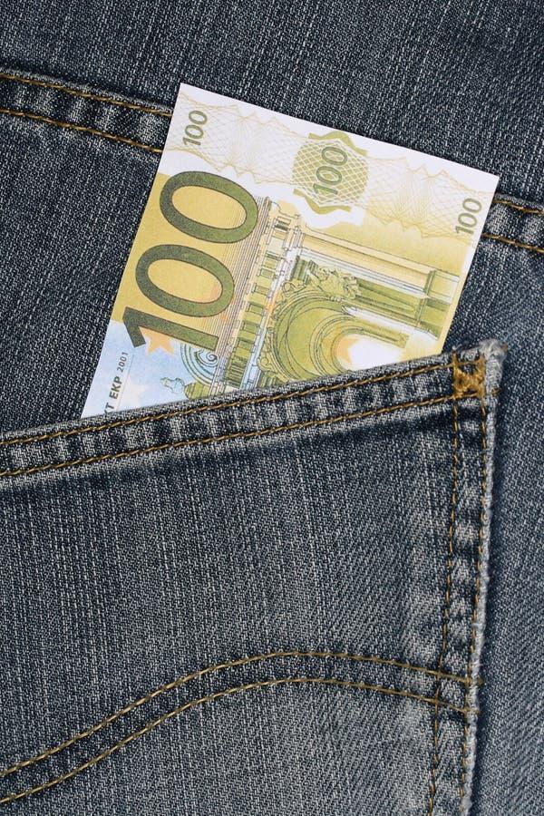 pieniądze z kieszeni obrazy stock