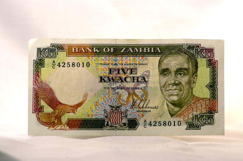 pieniądze zambijski fotografia stock