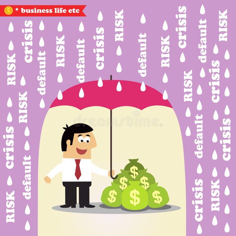 Pieniądze zarządzanie ryzykiem royalty ilustracja