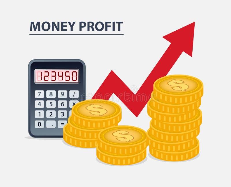 Pieniądze zysku pojęcie ilustracji
