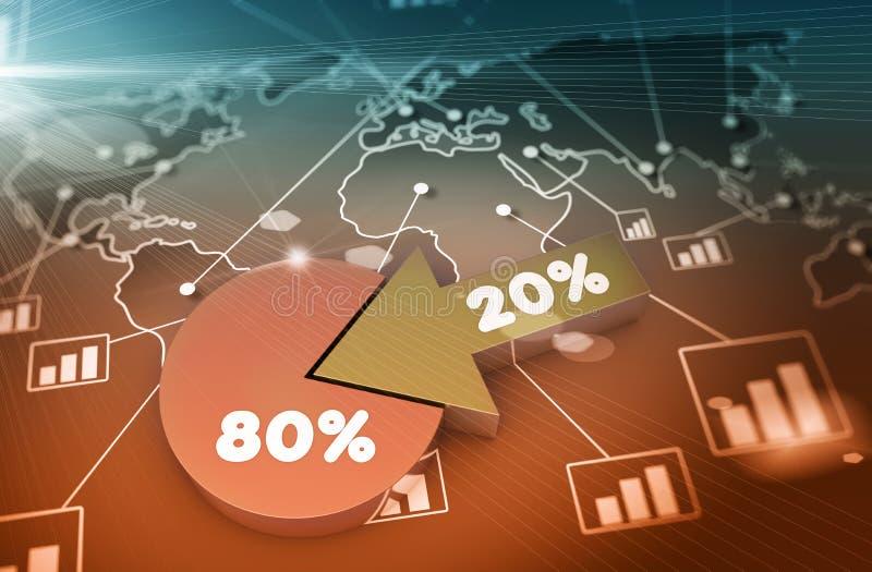 Pieniężna biznesowa mapa i wykresy ilustracja wektor