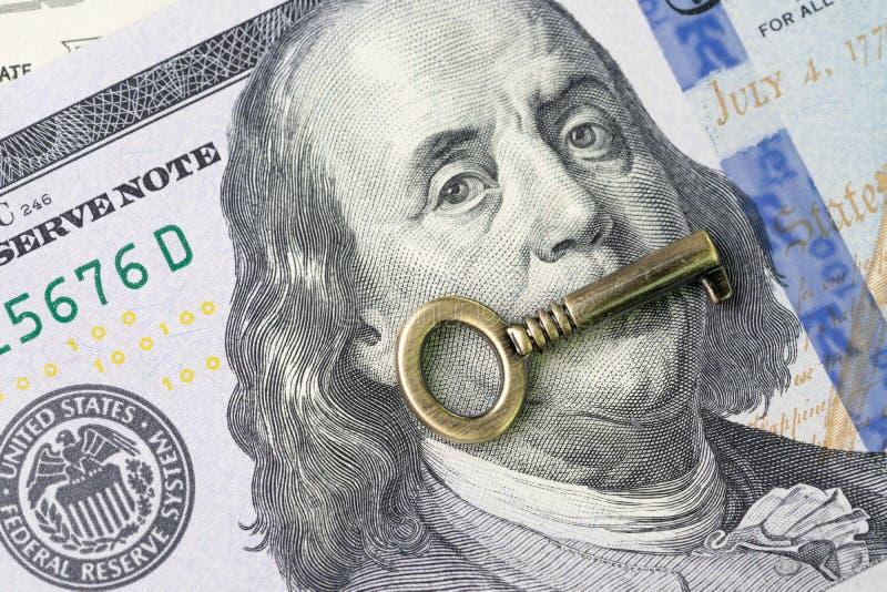Pieniężna kluczowa wartość, światowy ekonomia przyrost lub rynku papierów wartościowych inve, fotografia royalty free
