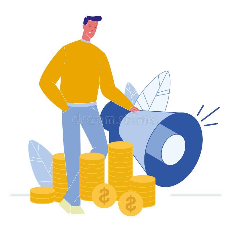 Pieniężna Ordynacyjna Płaska Wektorowa ilustracja ilustracji