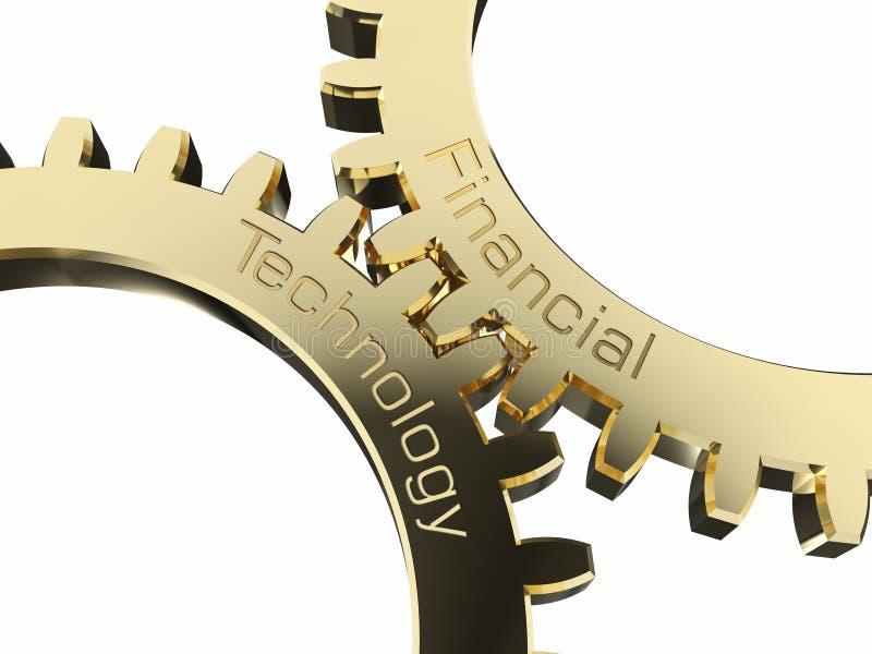 Pieniężna technologia na gearwheels ilustracja wektor