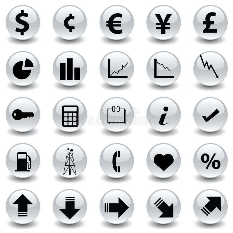 pieniężne ikony ilustracji