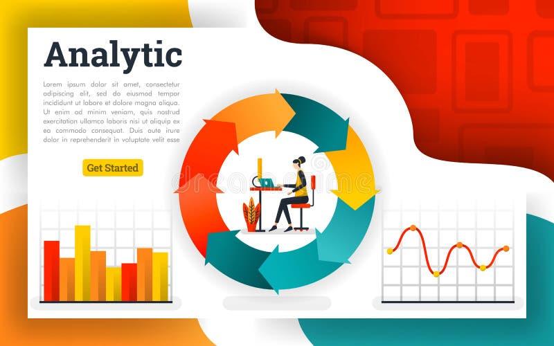 Pieniężni cyrkulacja diagramy i flowchart raporty royalty ilustracja