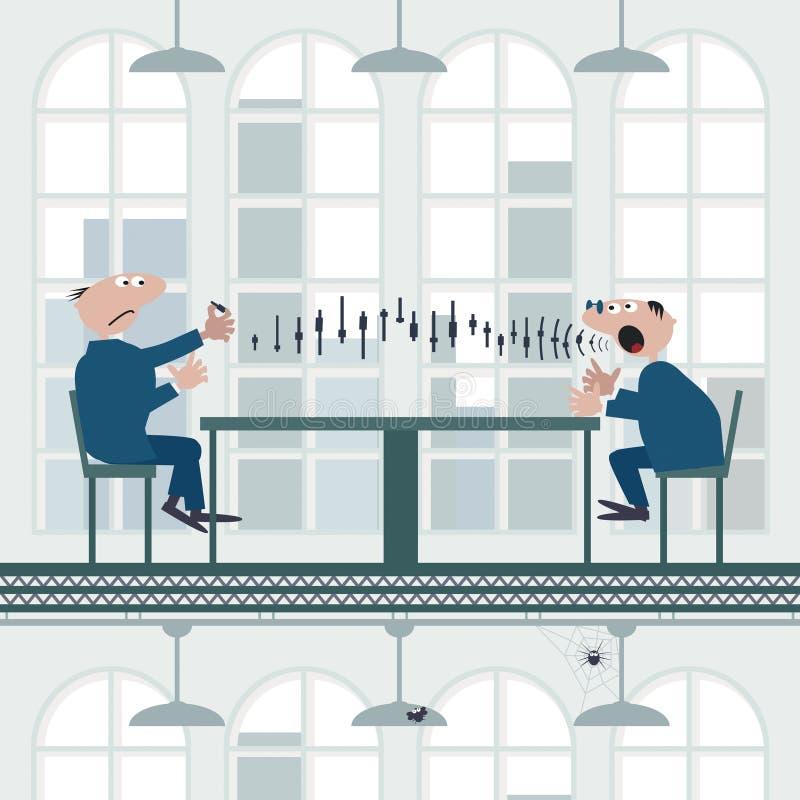 pieniężny advisor ilustracja wektor