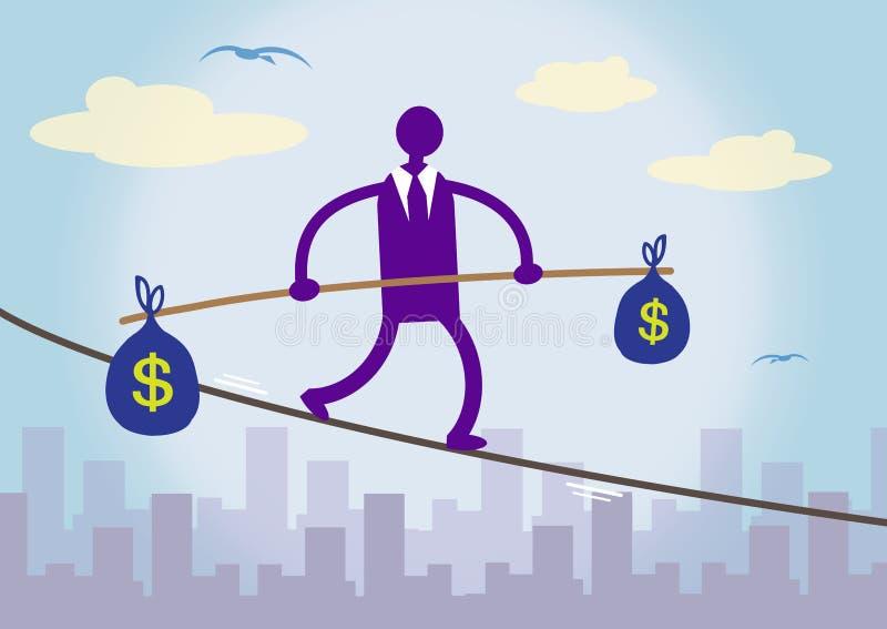 Pieniężny Balansuje dolar ilustracji