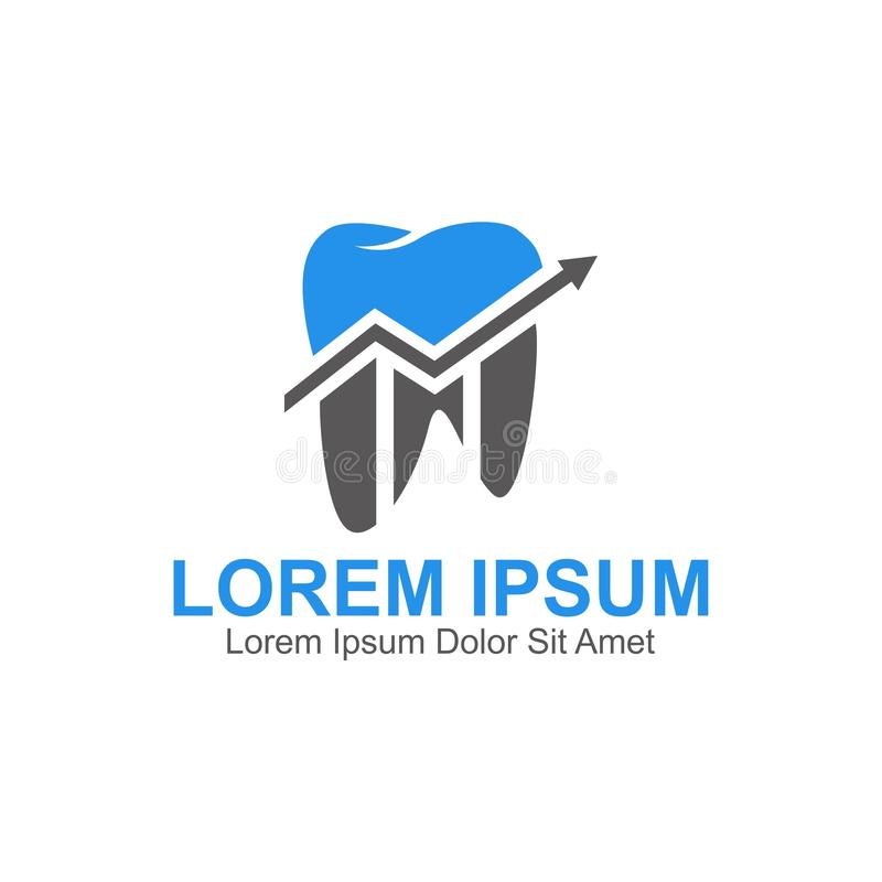 Pieni??ny dentysta grupy logo royalty ilustracja