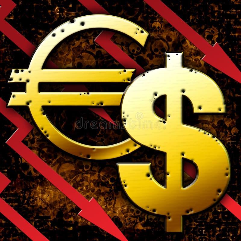 pieniężny kryzysu świat ilustracji