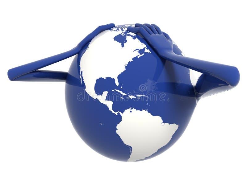 pieniężny kryzysu świat zdjęcia royalty free