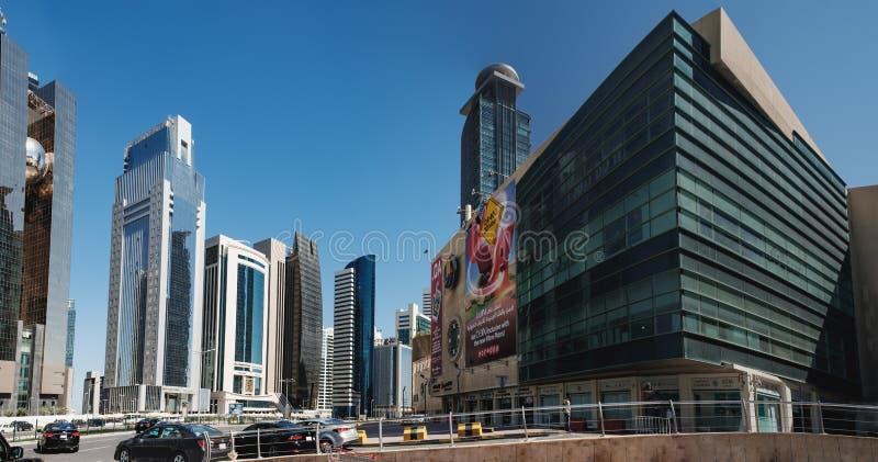 Pieniężny okręg w Doha, Katar obrazy stock