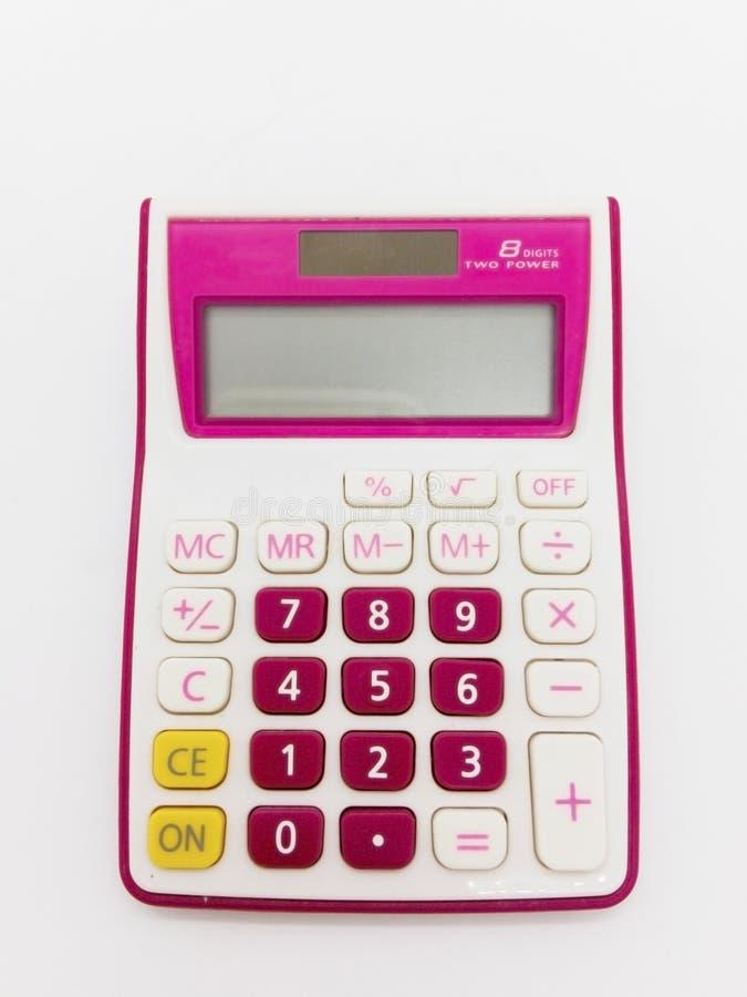 Pieniężny pojęcie, kolorowy cyfrowy kalkulator odizolowywający na bielu obrazy royalty free