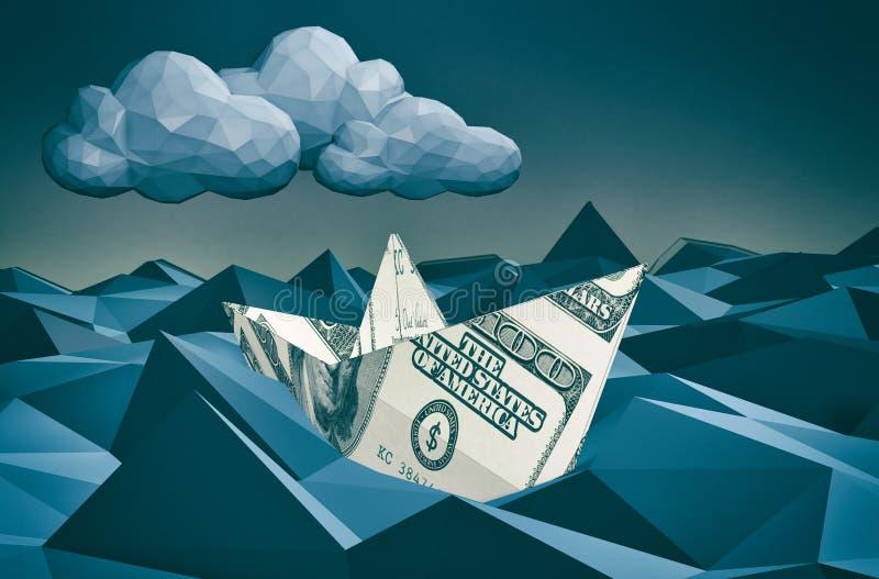 pieniężny pojęcie kryzys ilustracji